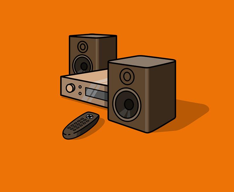 Verschenke  Stereo Anlage